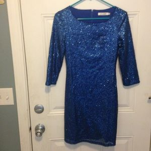 Blue sequel dress size xs so sparkly